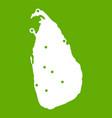 map of sri lanka icon green vector image vector image