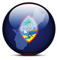 Map on flag button of Guam vector image vector image