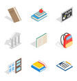 master icons set isometric style vector image vector image