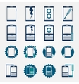 Mobile phone repair icons set vector image vector image