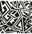 monochrome geometric pattern vector image vector image