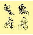mountain bicycle set vector image vector image