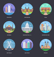pack of world cities 3 vector image