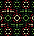 Pattern of colored ovals vector image vector image