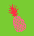 pineapple exotic tropical fruit sketch pop art vector image