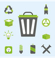 recycling nature icons waste sorting environment vector image vector image
