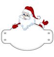 santa claus with blank sign vector image vector image
