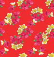 Seamless floral pattern with tropical flowers vector image