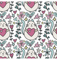 seamless pattern with a lovely cartoon cat vector image