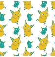 Seamless pattern with colorful cats