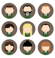 Set of colorful office people icons vector image vector image
