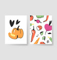 set of templates for summer cards hand drawn vector image vector image