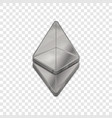 silver ethereum coin trendy 3d style icon vector image vector image