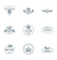 spice logo set simple style vector image