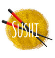 Sushi icon traditional japanese food