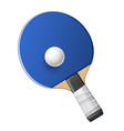 table tennis rocket with ball ping pong vector image vector image