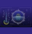 technology futuristic modern user interface circle vector image vector image