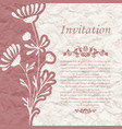 vintage background for the invitation with flowers vector image vector image