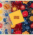 viruses set seamless patterns vector image