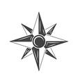 wind rose compass black icon logo element flat vector image