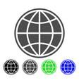 world icon vector image vector image