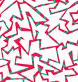 red graffiti seamless pattern vector image