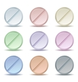 Set of color pill icons vector image
