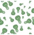 hand drawn light bulb seamless pattern vector image