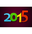 2015 colorful word vector image