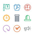 9 alarm icons vector image vector image