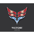 Abstract victory wings in color of American flag vector image