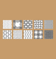 abstract wave striped and checkered seamless vector image
