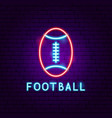 american football neon label vector image vector image
