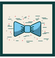 baby blue bowtie image poster vector image