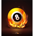 burning billiard ball vector image