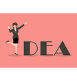 Business woman idea concept vector image vector image