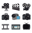 camera lenses photo video digital media vector image