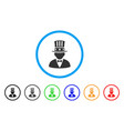 capitalist rounded icon vector image vector image