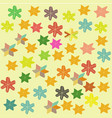 childrens colorful background with stars and vector image