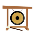 Chinese gong and hammer vector image vector image