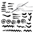 collection paint splash set brush strokes vector image vector image