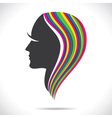 colorful hair of beautiful women vector image vector image