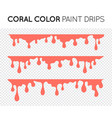 coral paint drips stains black oil liquid vector image vector image
