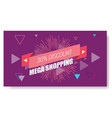 creative abstract memphis banner or poster vector image vector image
