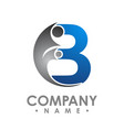 creative letter b logo abstract business logo vector image vector image