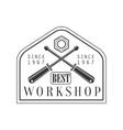 Crossed Screwdrivers Premium Quality Wood Workshop vector image vector image