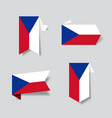 czech flag stickers and labels vector image