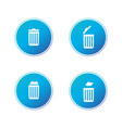 delete icon collection trash can recycle bin set vector image