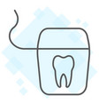 dental floss thin line icon stomatology dental vector image vector image