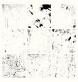 distress textures set vector image vector image